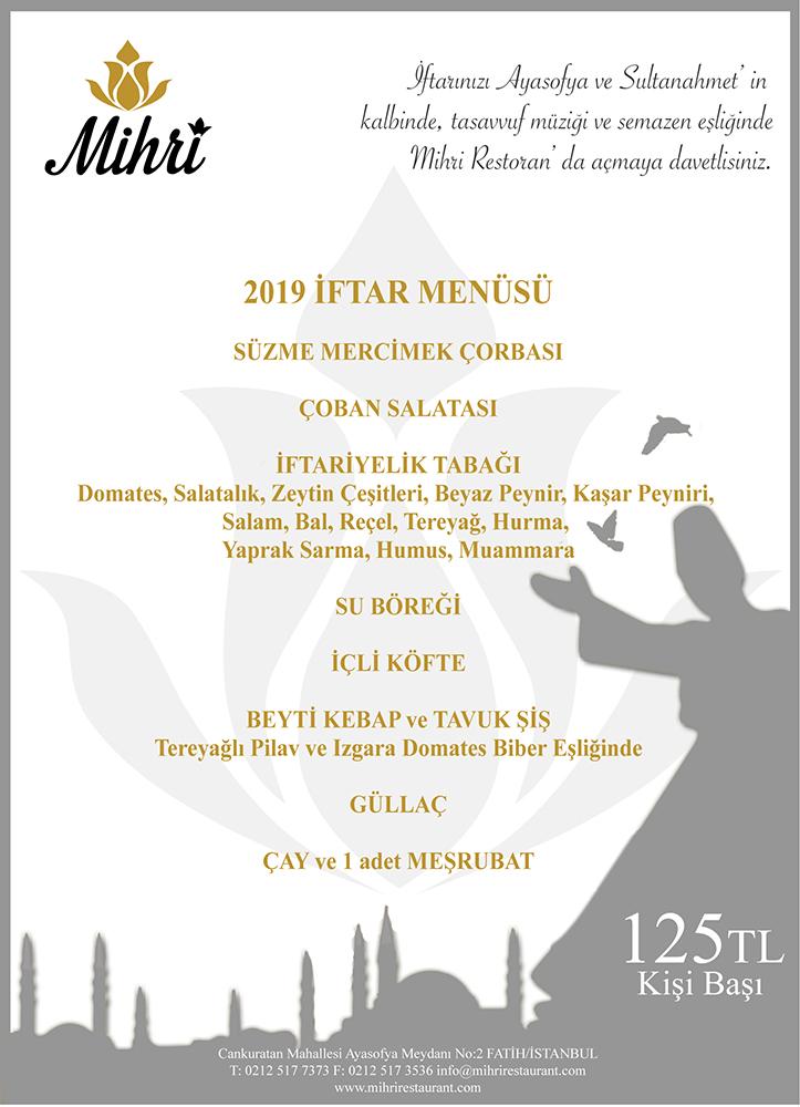 2019 iftar menusu